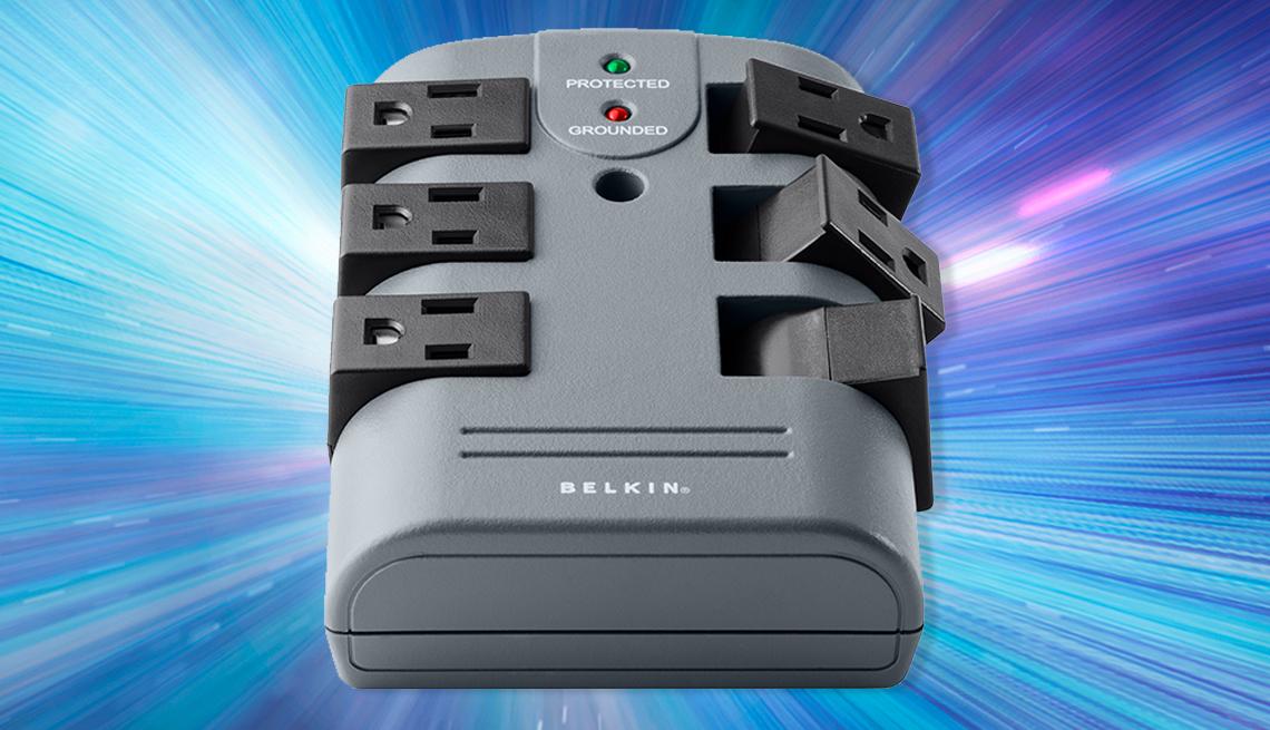 item 2 of Gallery image - belkin six outlet pivot plug