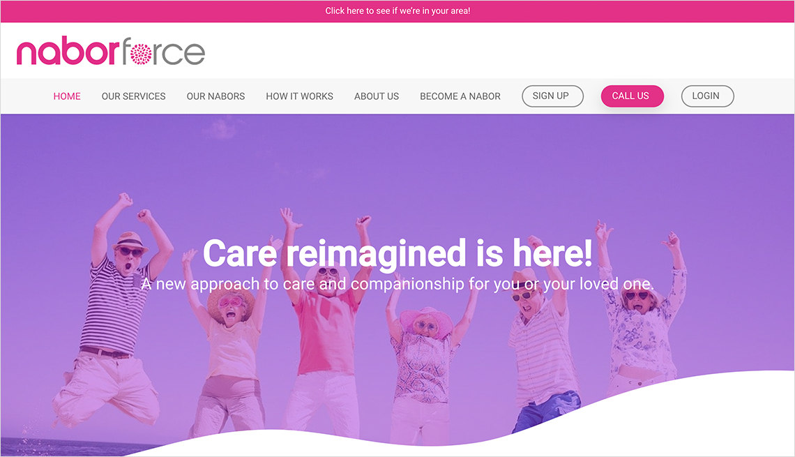 a screenshot of naborforces website