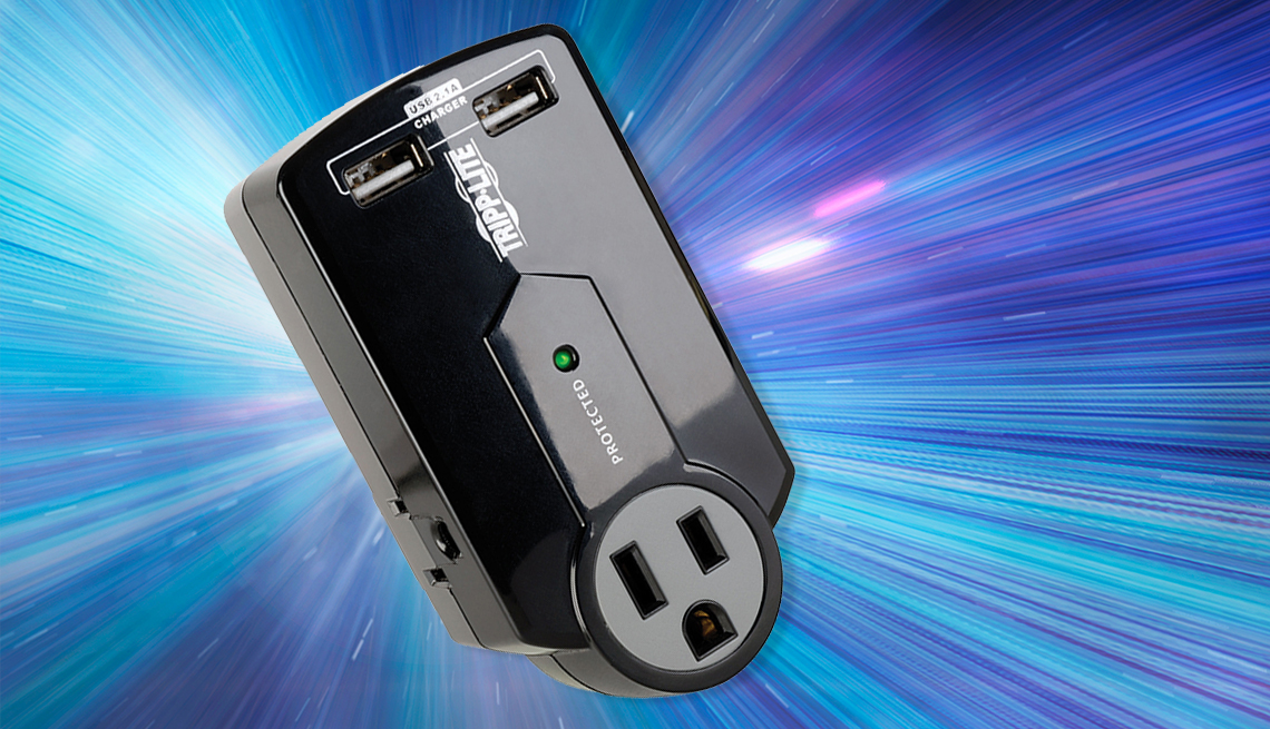 item 5 of Gallery image - a surge protector the tripp lite s k 1 2 0 u s b