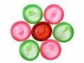 Preservativos multicolores - Protección contra las enfermedades de transmisión sexual para la gente mayor de 45 años