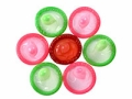 Multi-colored condoms, STI protection for people 45+