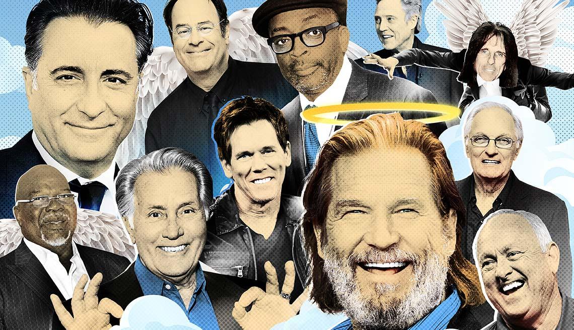 Ensayo de AARP sobre los hombres que no engañan - Caras de hombres famosos