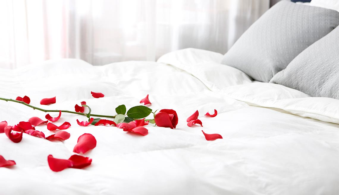 Rose petals on bed. Are you overdue for a sexual makeover?