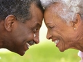 Romantic Senior African American Couple In Park