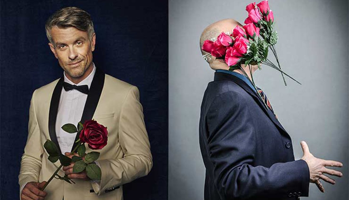 Man dressed in tuxedo carrying flowers, Valentine's Day, How to Up Your Game,