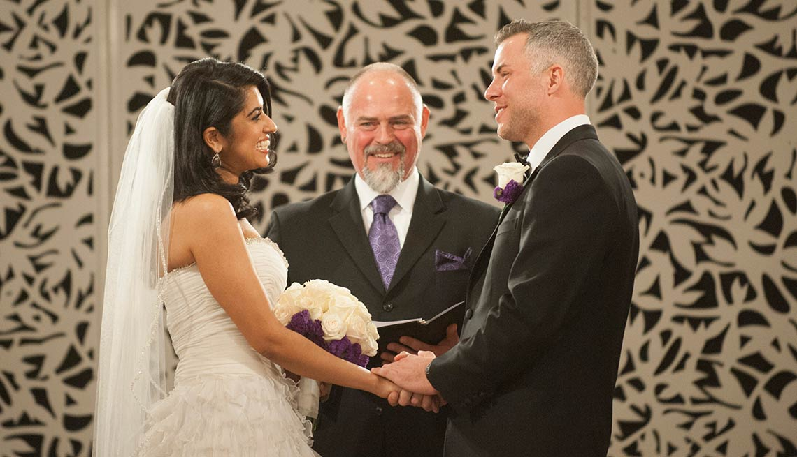 """Davina Kullar and Sean Varricchio of A&E's """"Married at First Sight"""""""