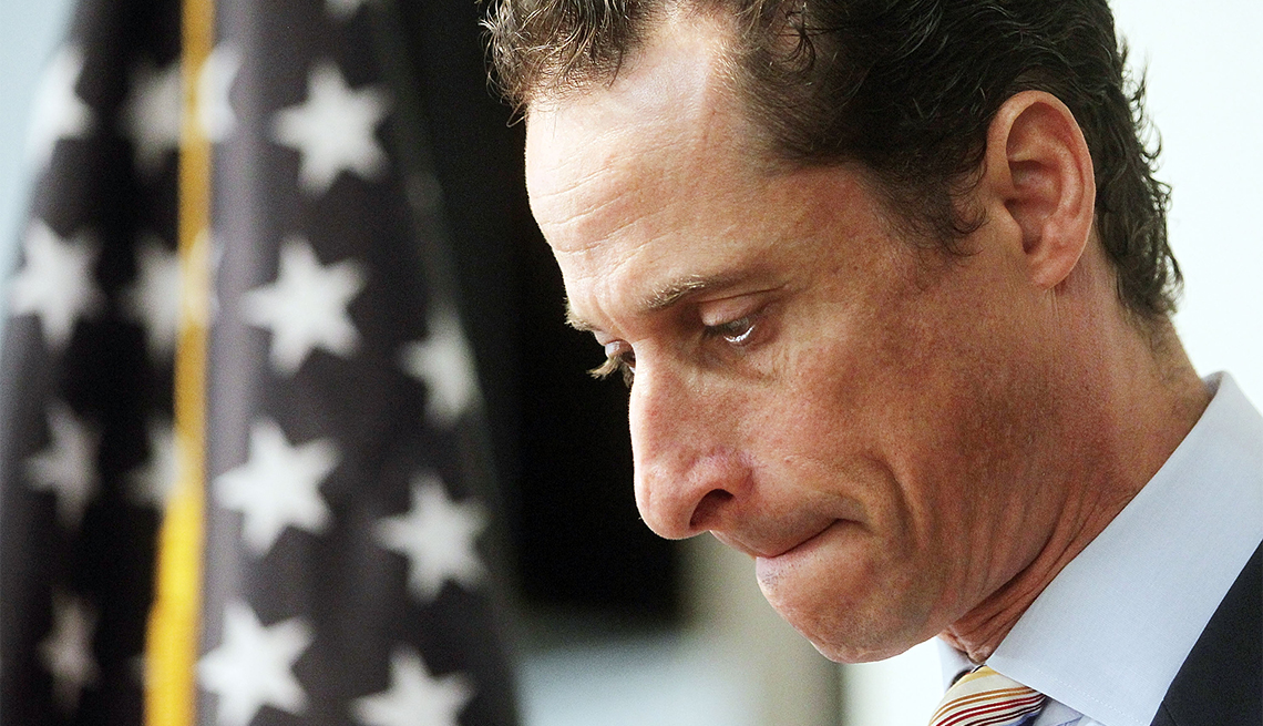 U.S. Rep. Anthony Weiner announces his resignation June 16, 2011 in the Brooklyn borough of New York City