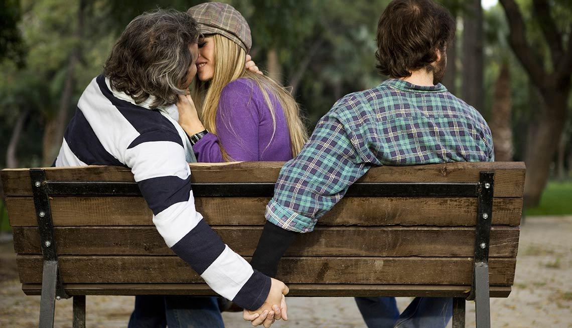 Bisexual man having affair