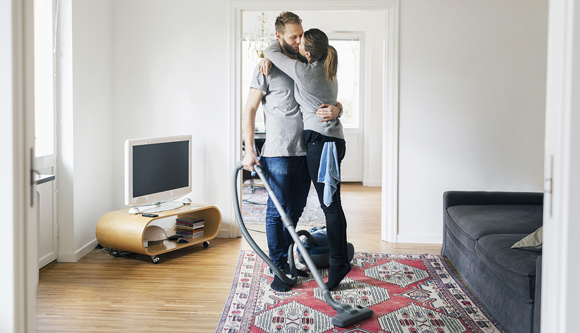 Couple Kiss, Vacuum Living Room, Cleaning House, Home And Family, Ways to Celebrate Your Husband (or Wife). Tonight!