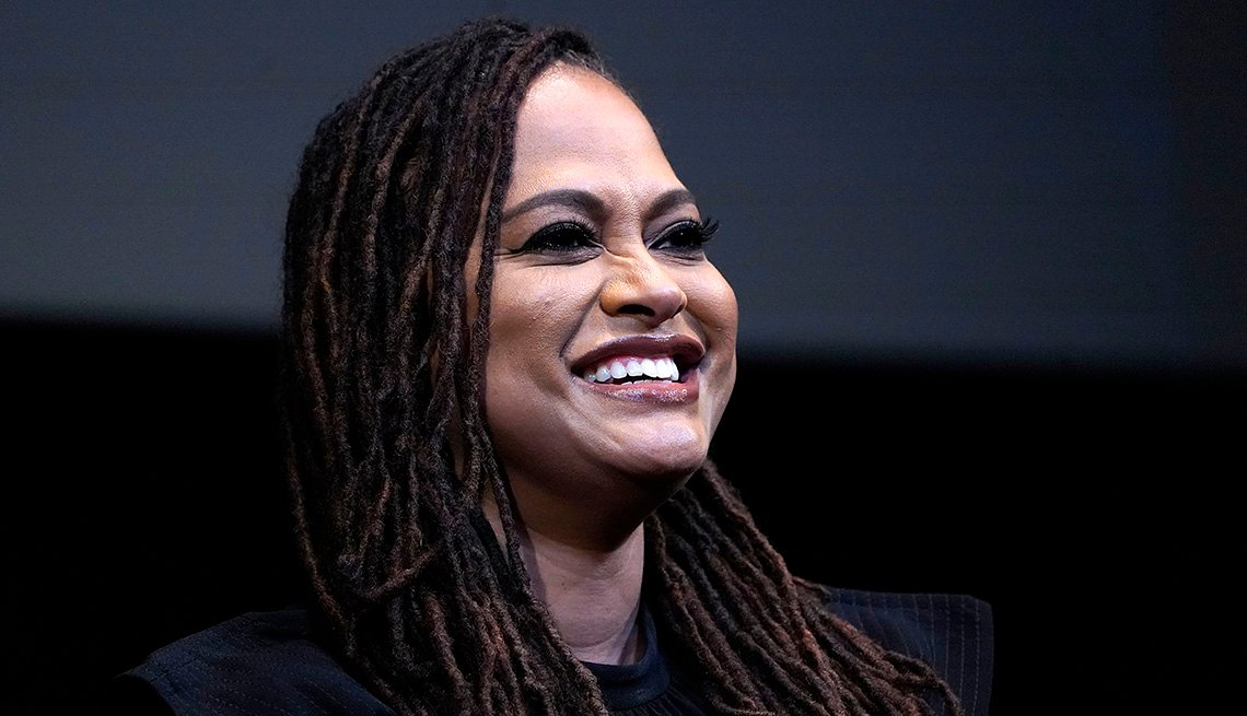 Filmmaker Ava Duvernay smiles during an interview