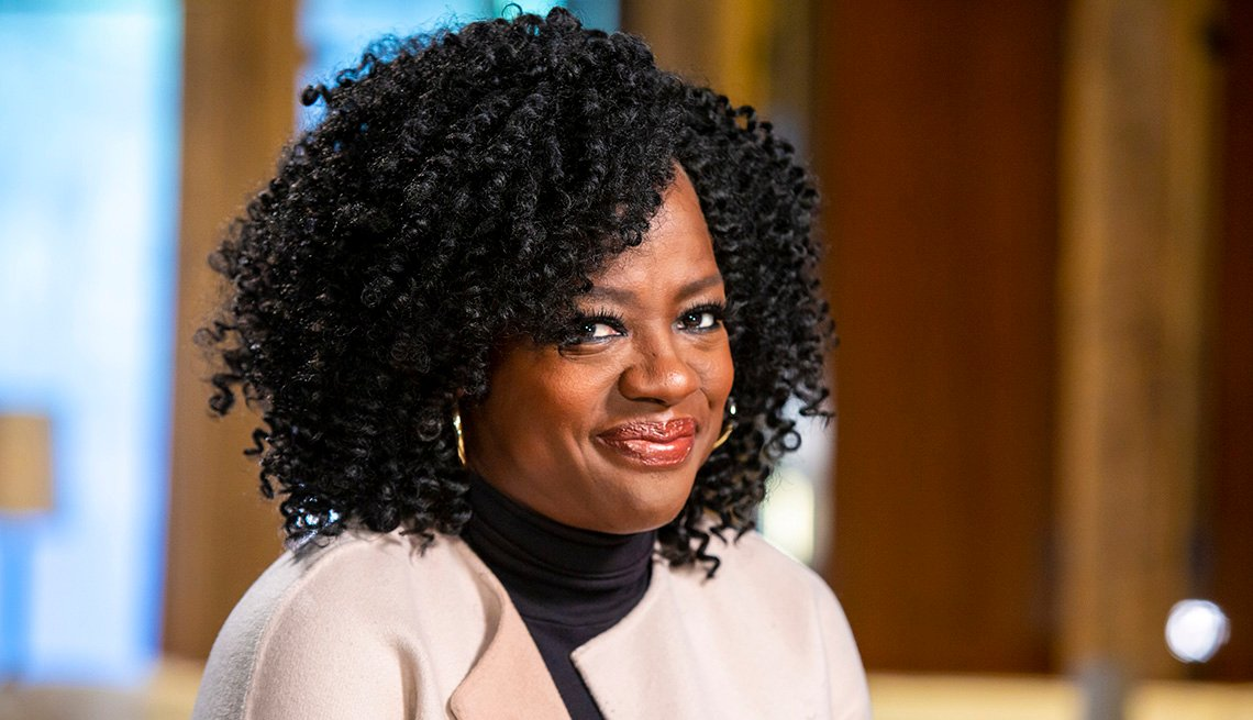 Viola Davis pictured on Today with Willie Geist