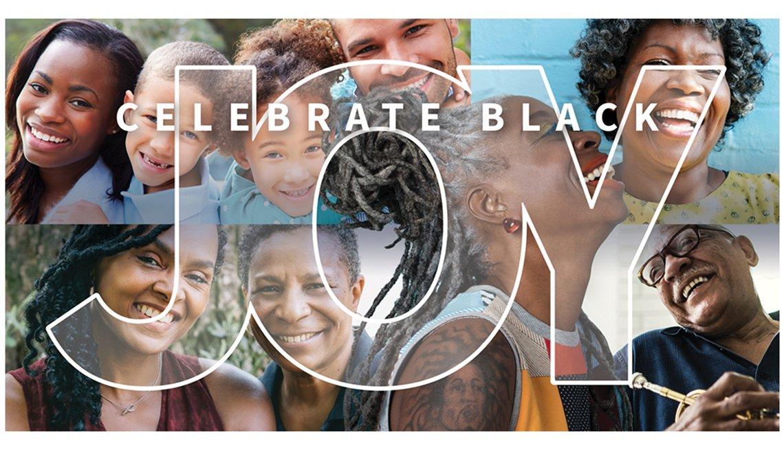 Celebrate Black Joy overlay text