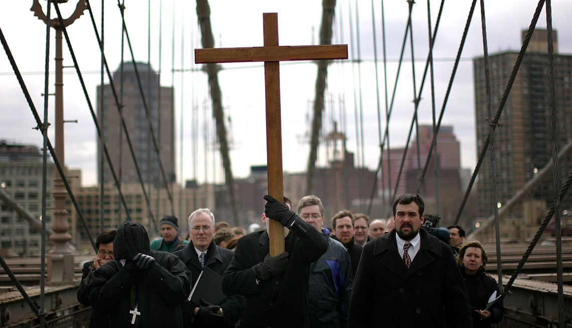 Way of the Cross, Brooklyn Bridge, Semana Santa, una tradición de fe