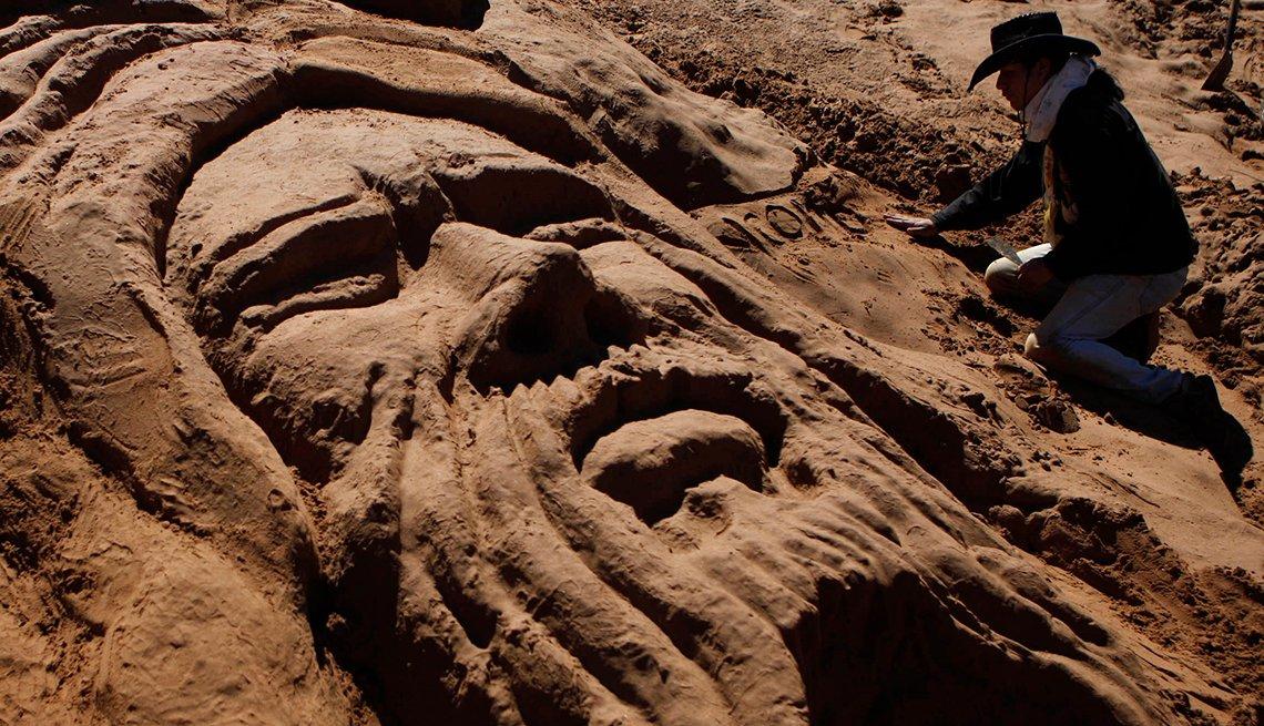 Sand Art, Bolivia Holy Week, Semana Santa, una tradición de fe