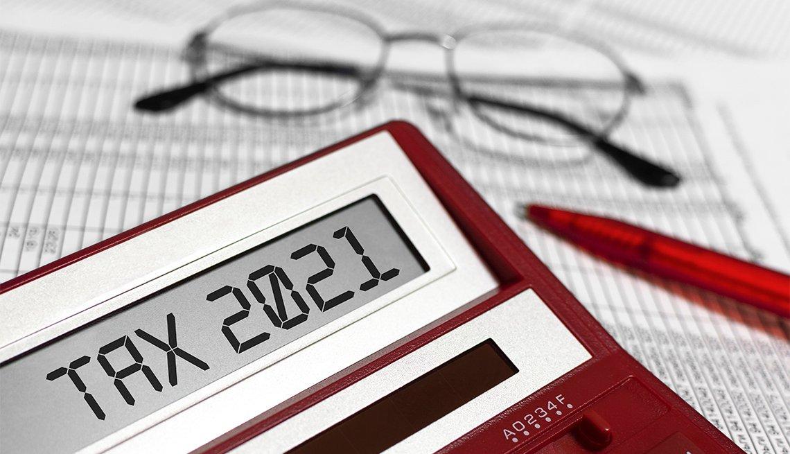 Word Tax 2021 on calculator