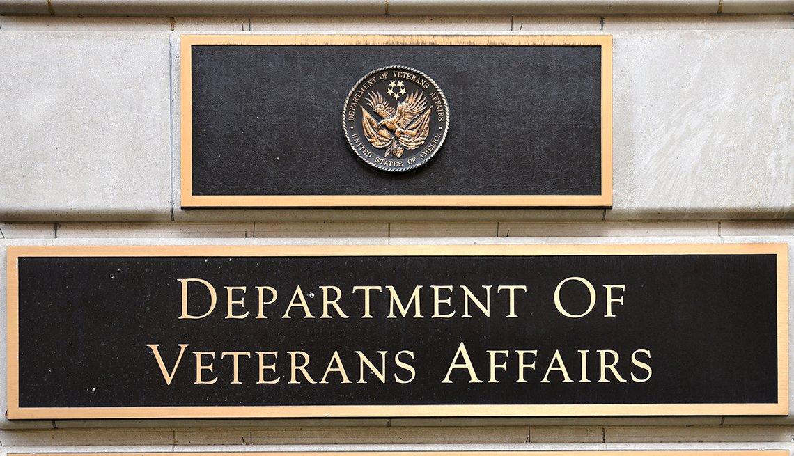 Letrero del departamento de asuntos de veteranos