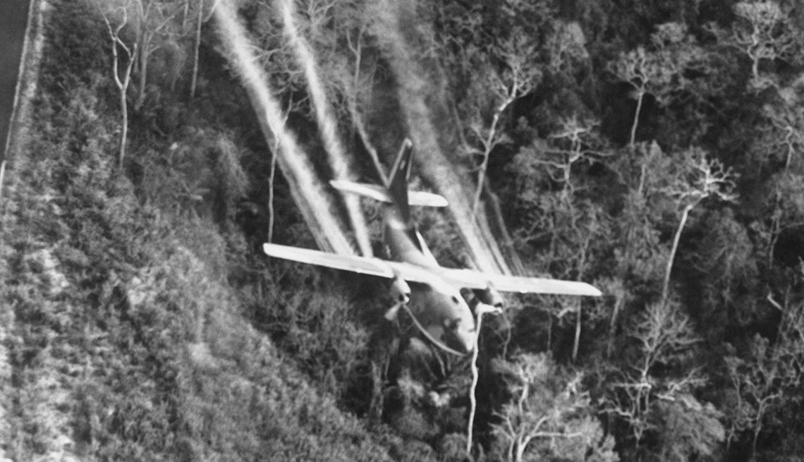 Plane spraying Agent Orange over Vietnam