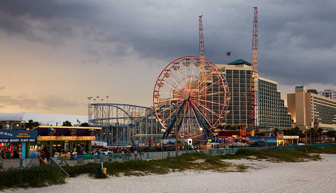 Daytona Boardwalk Amusement Area and Pier