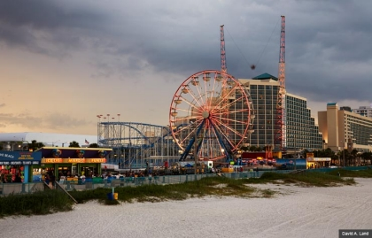 Daytona Boardwalk Amusement Area and Pier (David A. Land)
