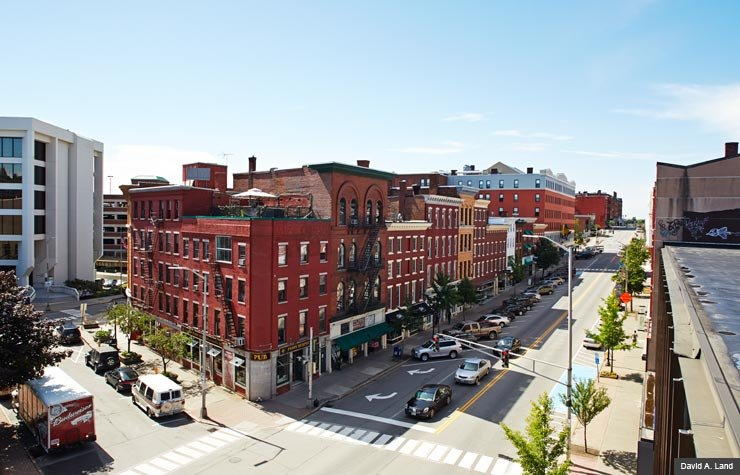 Elevated view of downtown Bangor, Maine (David A. Land)