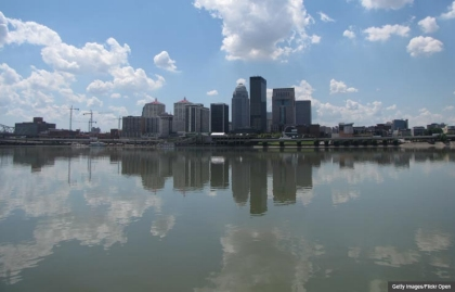 Louisville Kentucky Ohio River Downtown (Getty Images/Flickr Open)