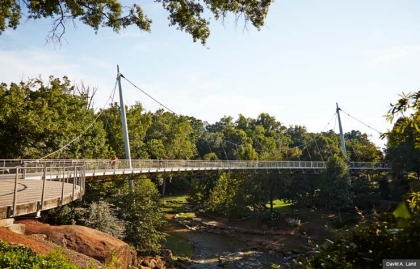 Greenville South Carolina The Liberty Bridge (David A. Land)