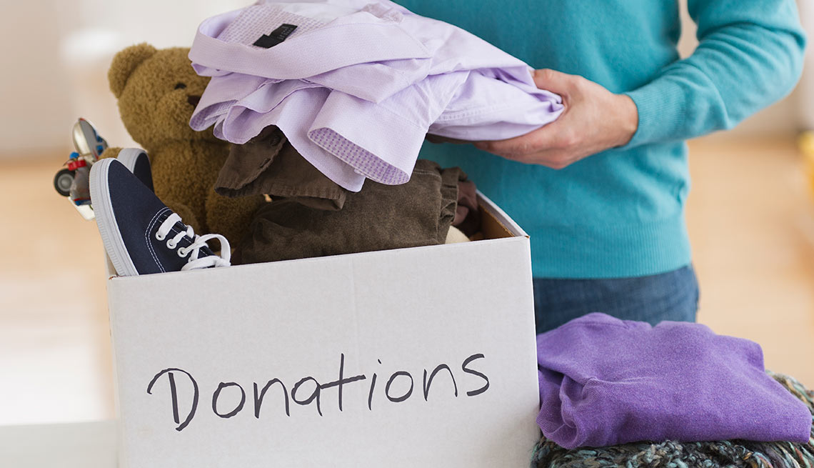 How to get rid of clutter in five steps. Donate to charity