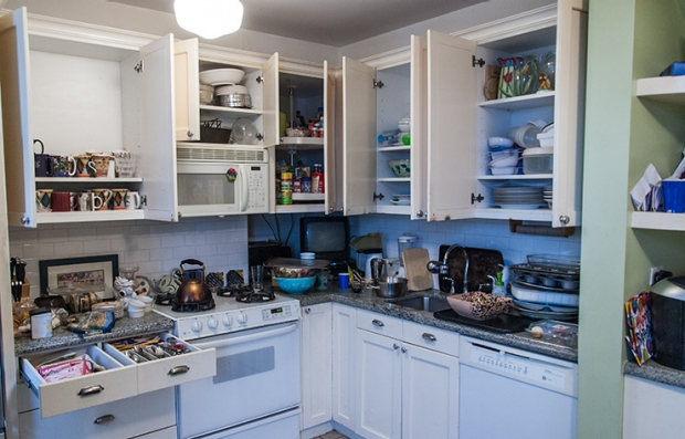 Kitchen: Before. Declutter Your Home.