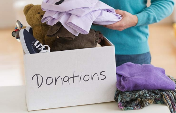 How get rid clutter five steps donate charity