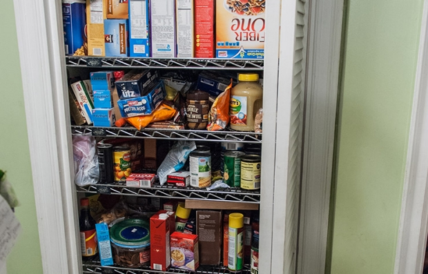 Pantry: Before. Declutter Your Home.