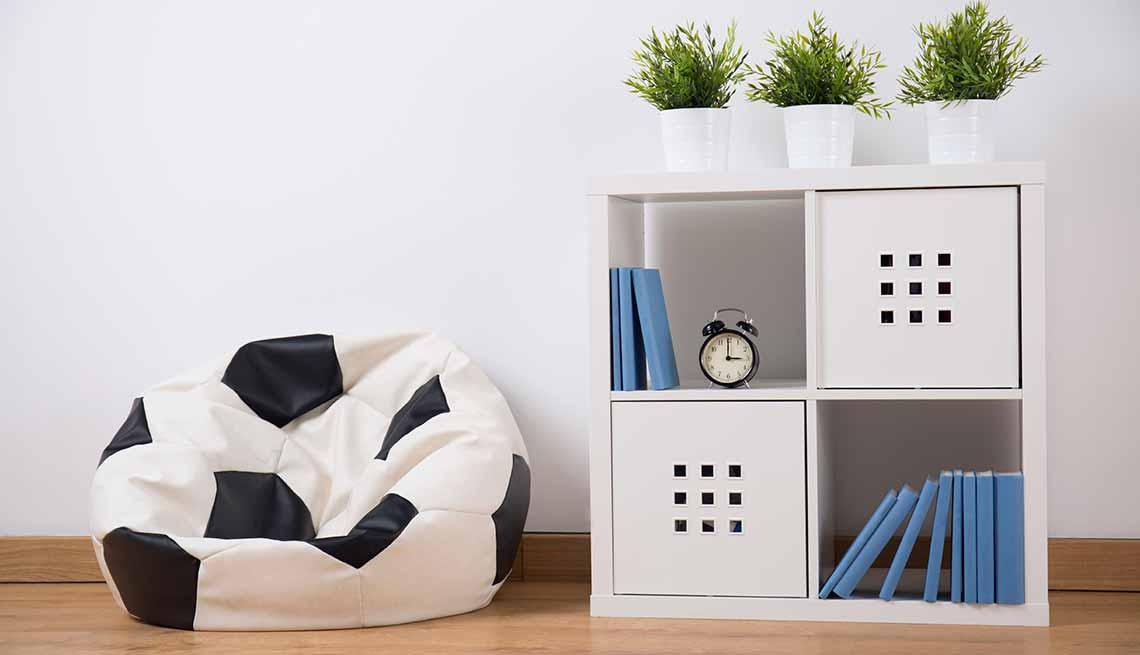 Mueble con cubículos - Tendencias para decorar el cuarto de tus nietos