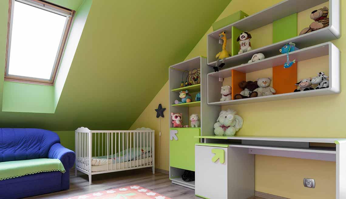 Repisas para libros - Tendencias para decorar el cuarto de tus nietos
