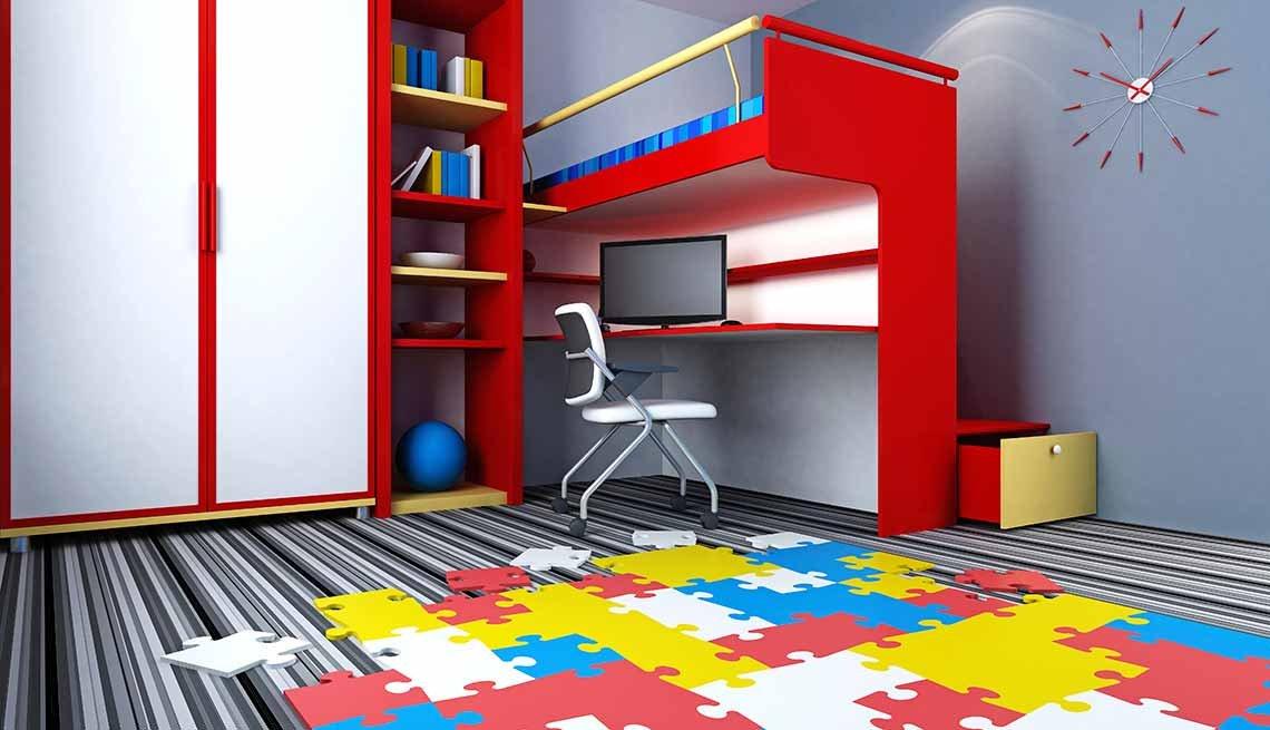 Alfombra modular - Tendencias para decorar el cuarto de tus nietos
