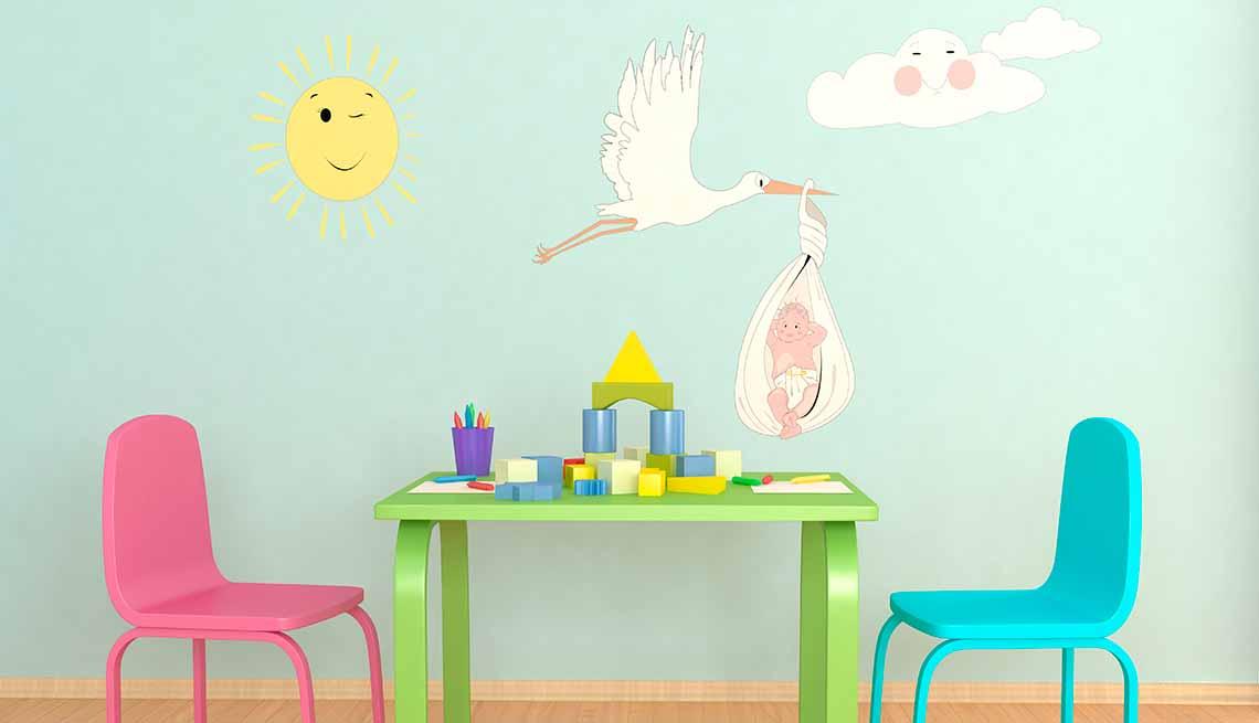 Figuras decorativas en las paredes - Tendencias para decorar el cuarto de tus nietos