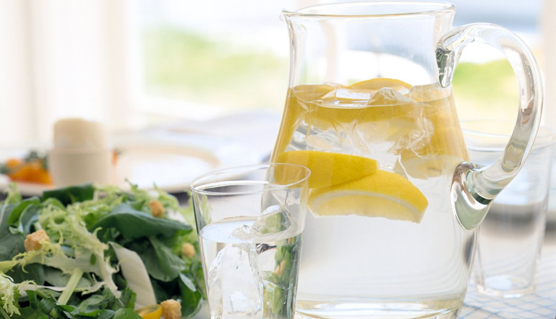 Lemon Water in a Pitcher, Healthy Living, Turn Home into Wellness Retreat