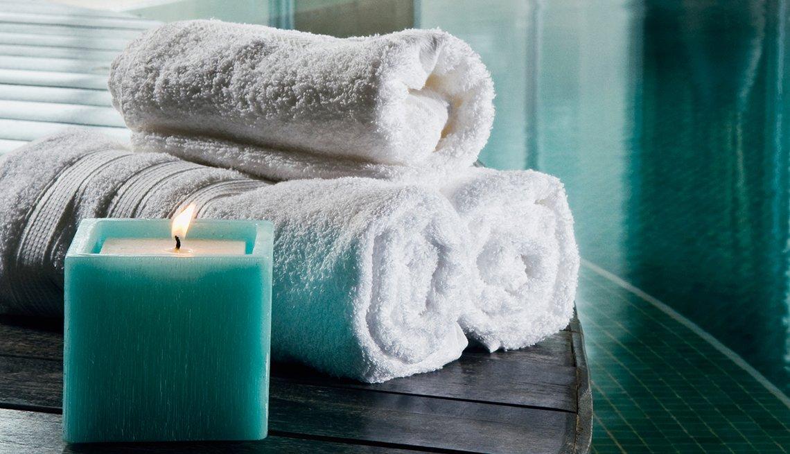 Healthy, Turn Home into Wellness Retreat, AARP, Bathroom Towels