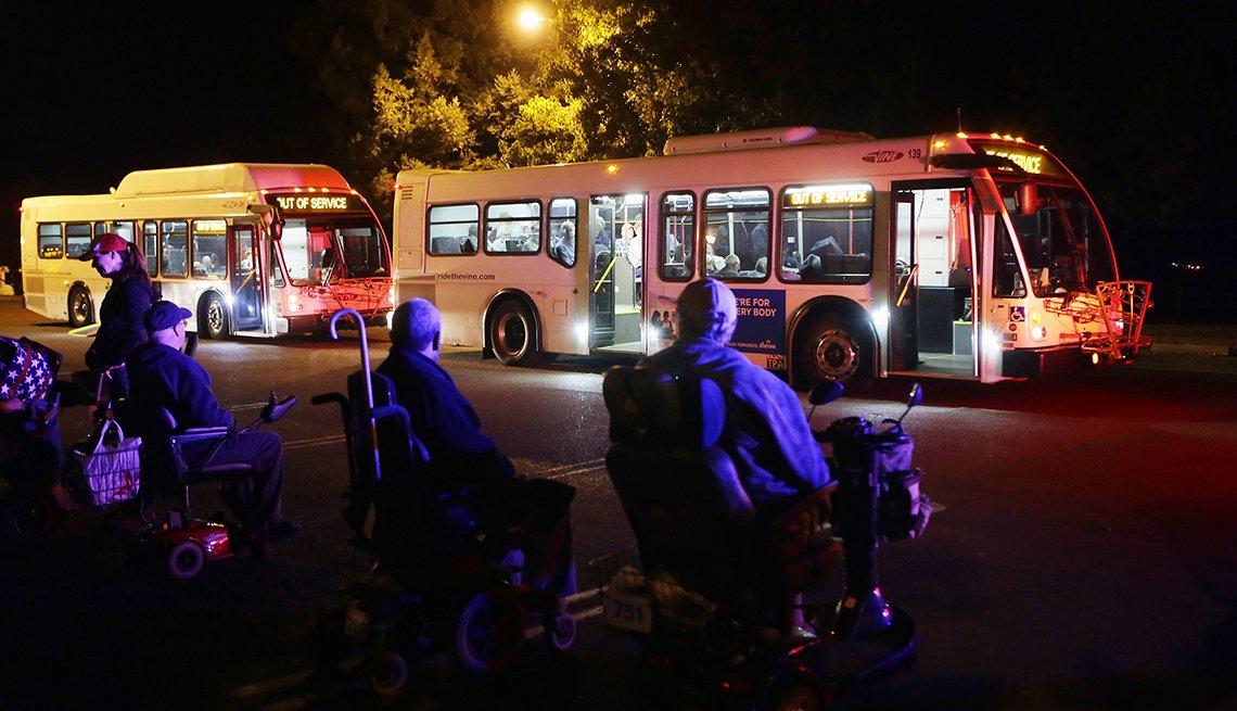 California Wildfire Veteran Evacuations