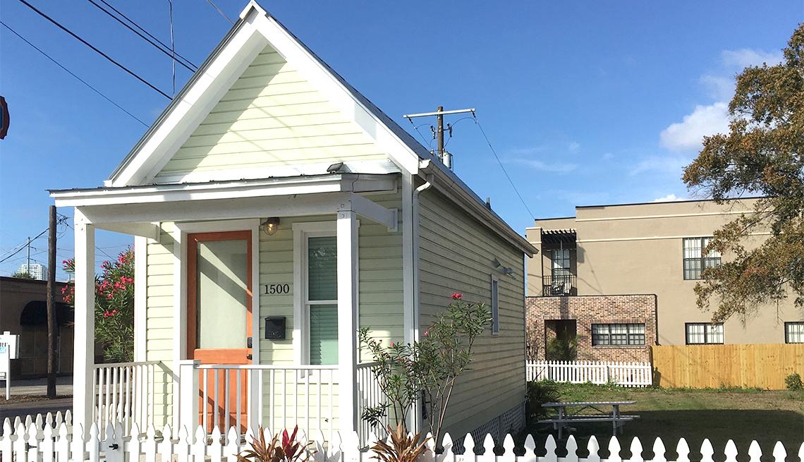 Micro casa en Ybor City, Florida.