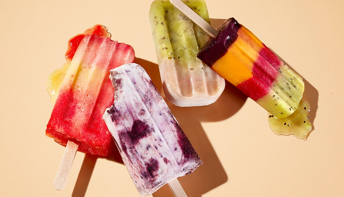 Fruit-flavored Popsicles