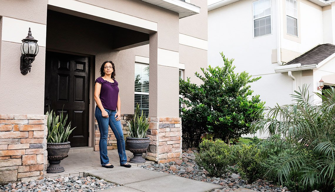 Leah Lally outside her Florida home