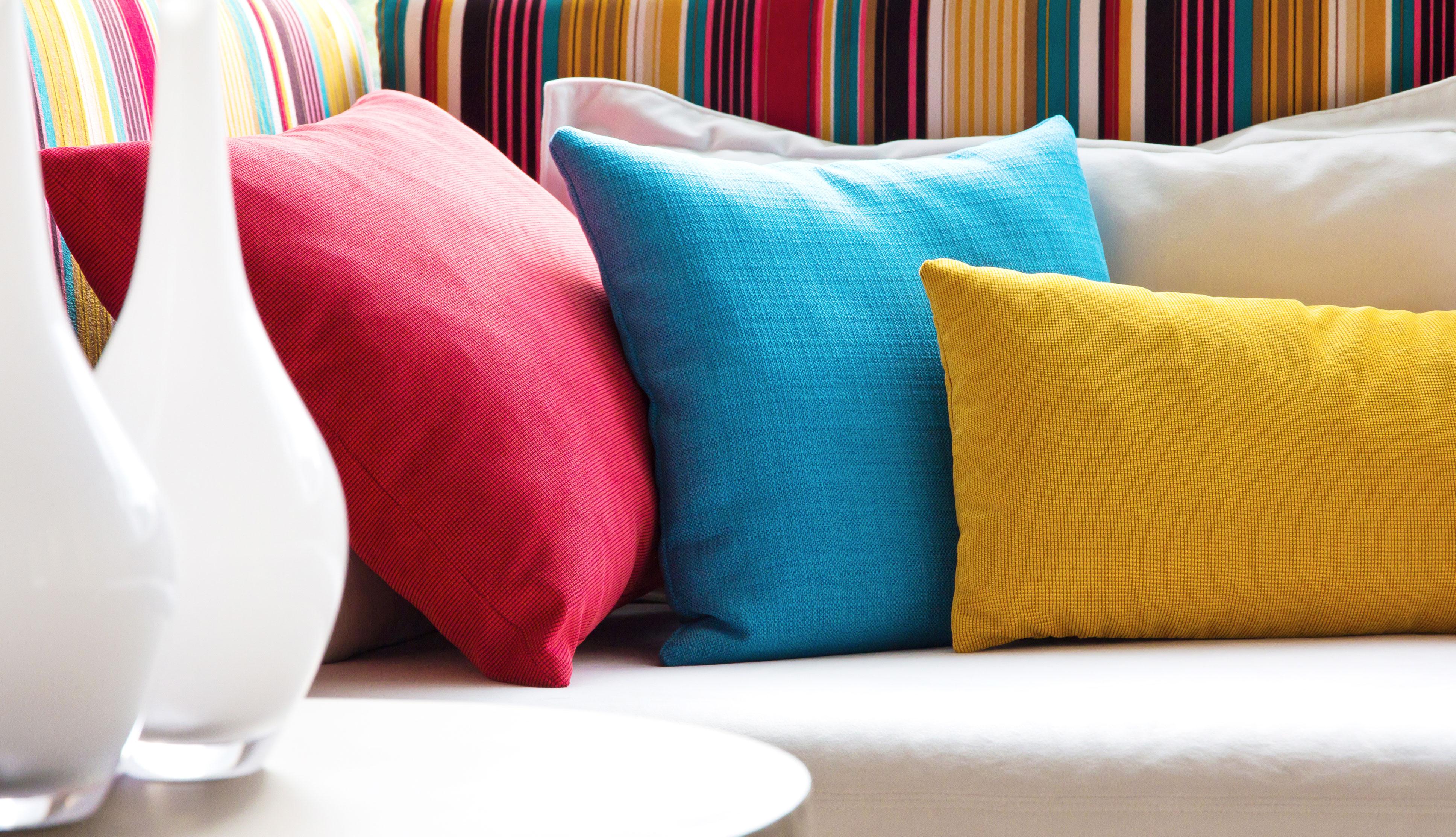 Textiles multicolores