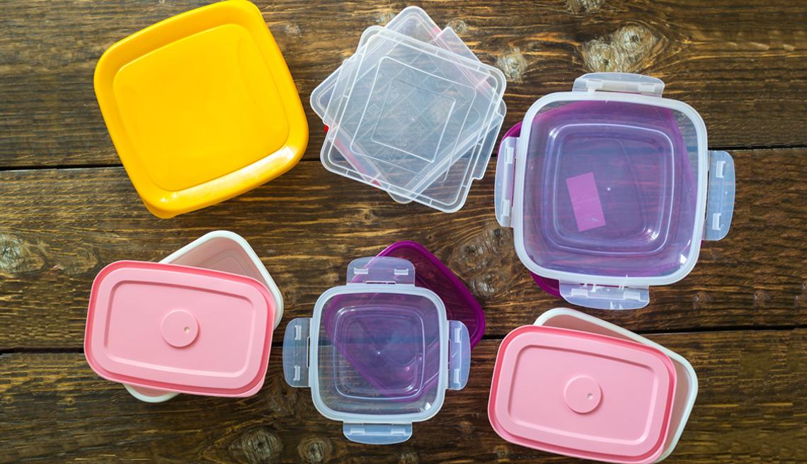 Recipientes de plástico para la cocina