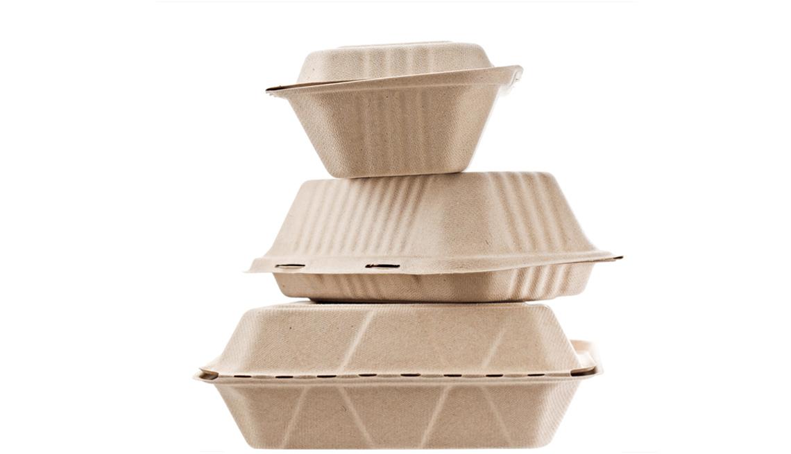 Recipientes de cartón para llevar alimentos