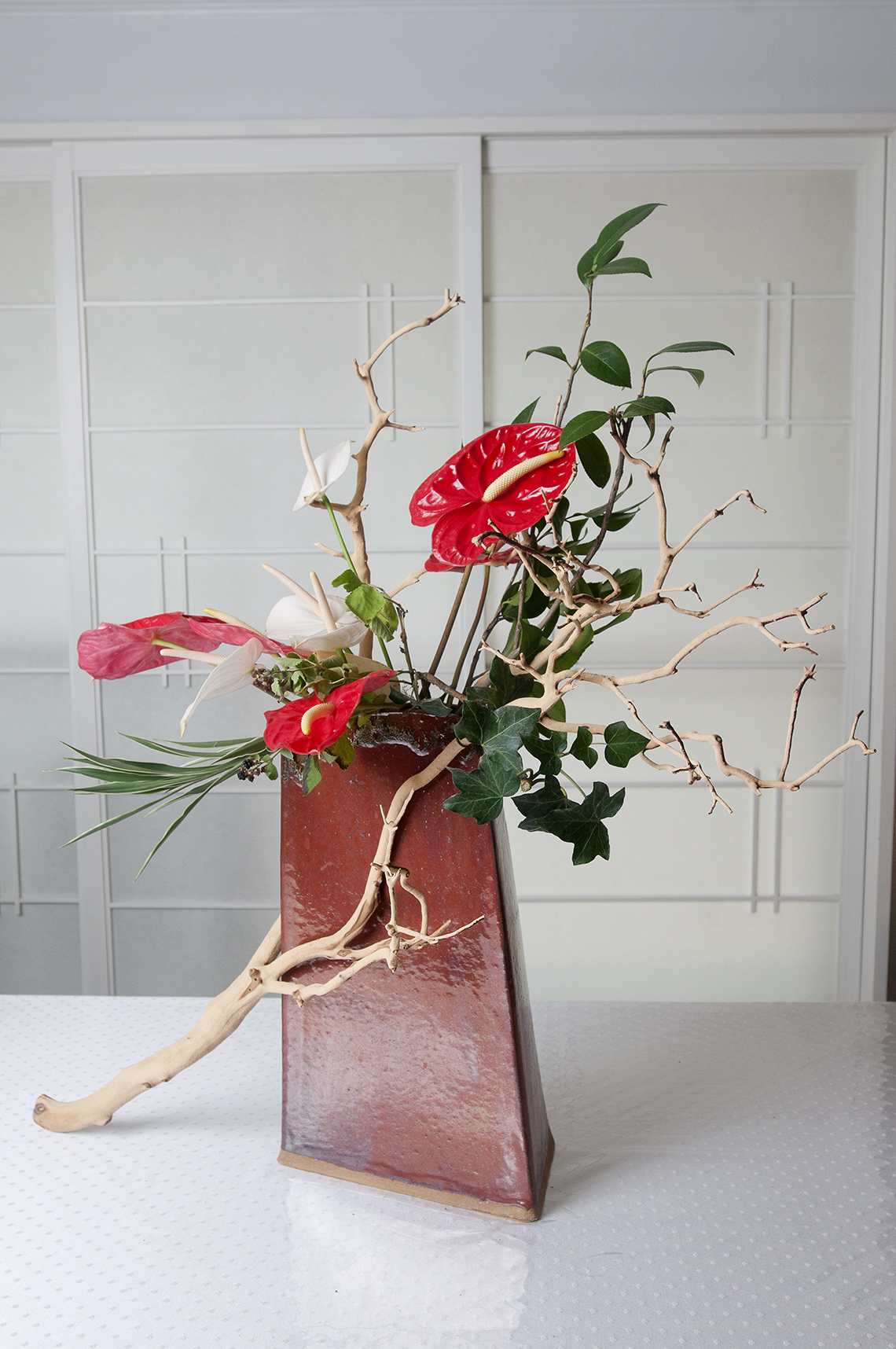 Ruby Maruyama Practices Japanese Flower Arranging