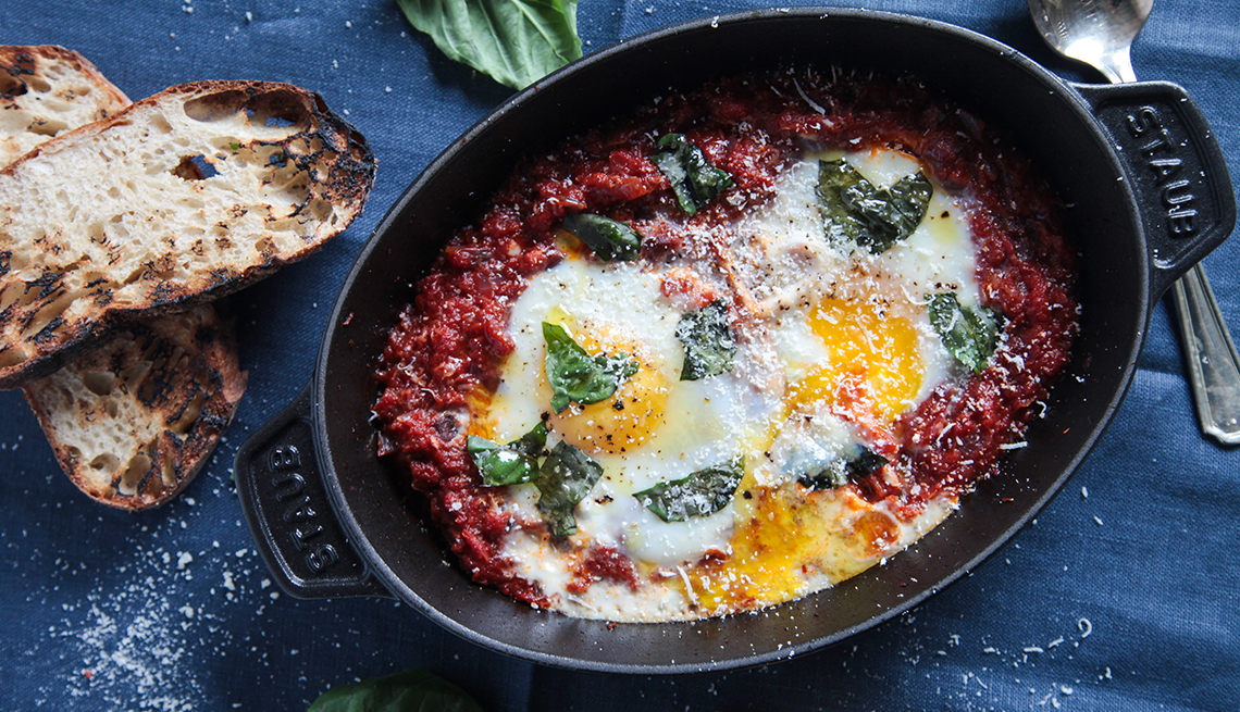 Huevos en un sartén