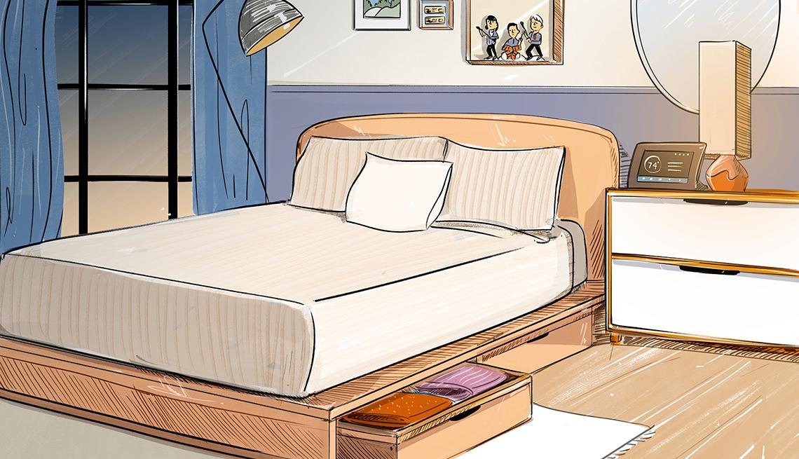 design sketch for a bedroom