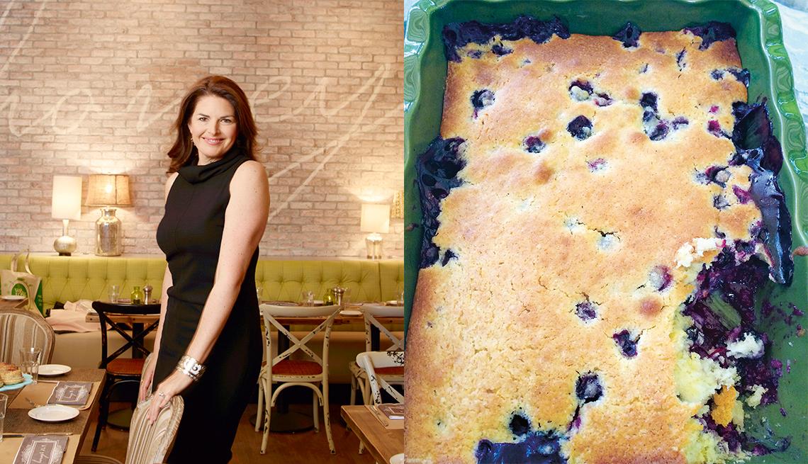 Elizabeth Blau and Blueberry Spoon Bread