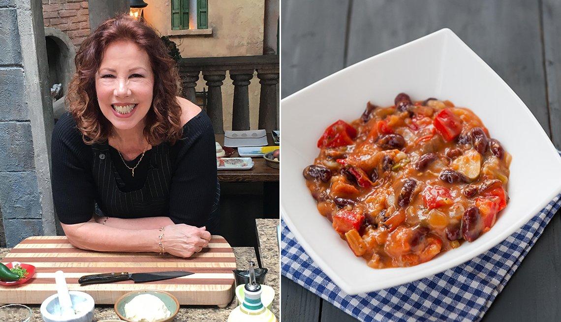 Christina Pirello and vegetarian chili