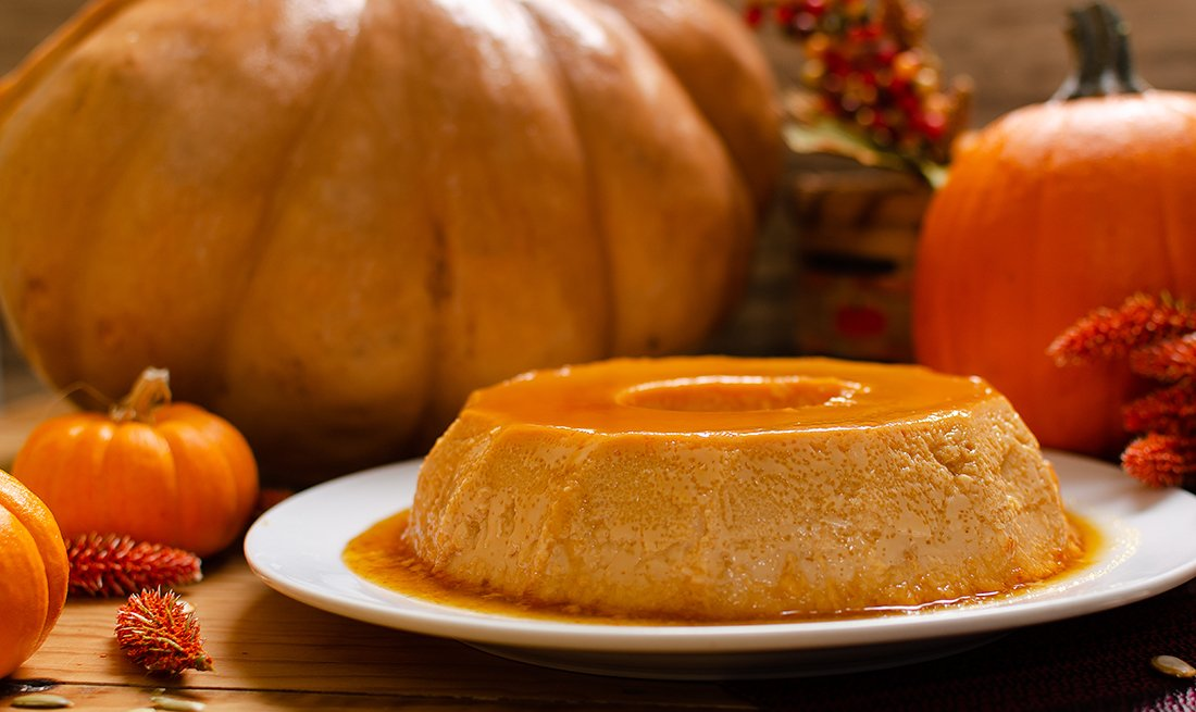 Pumpkin flan cheesecake