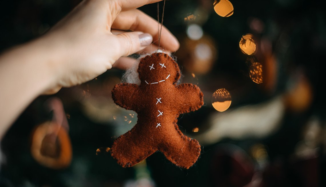 item 3 of Gallery image - Ginger-man Christmas tree ornament